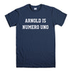ARNOLD IS NUMERO UNO-mens-t-shirt-Navy
