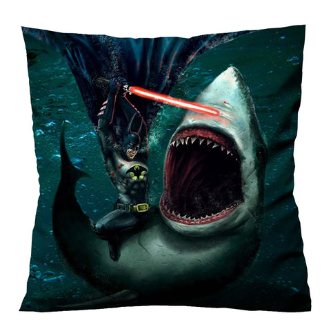 BATMAN VS SHARK Cushion Case Cover