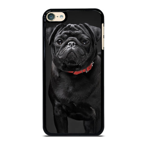 BLACK PUG iPod Touch 4 5 6 Generation 4th 5th 6th Case - Best Custom iPod Cover Design