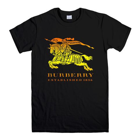 BURBERRY KNIGHT LONDON-mens-t-shirt-Black