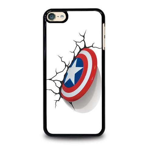 CAPTAIN AMERICA SHIELD 3D iPod Touch 4 5 6 Generation 4th 5th 6th Case - Best Custom iPod Cover Design