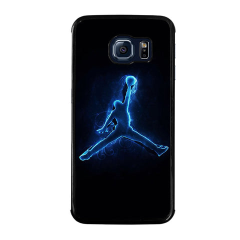 COOL AIR JORDAN LOGO BLUE-samsung-galaxy-S6-edge-case