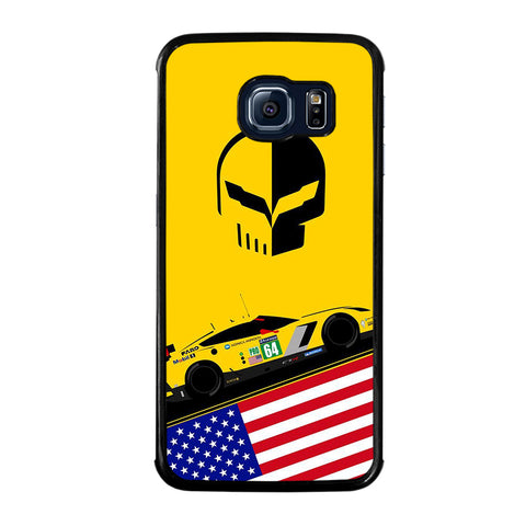 CORVETTE RACING JACK DECAL-samsung-galaxy-S6-edge-case