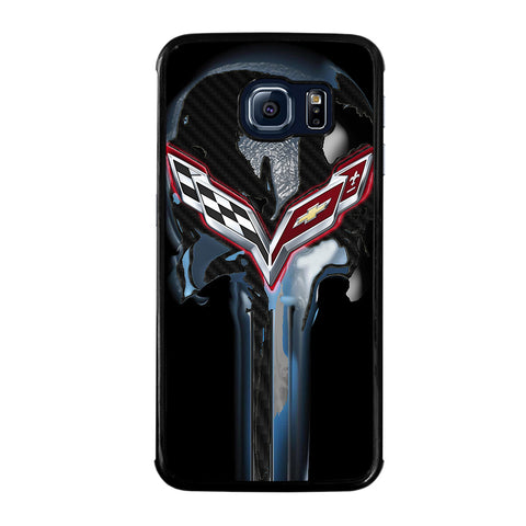 CORVETTE SKULL LOGO-samsung-galaxy-S6-edge-case