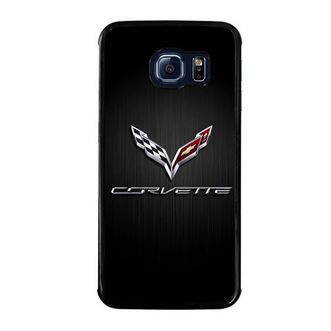 CORVETTE SYMBOLS BLACK-samsung-galaxy-S6-edge-case
