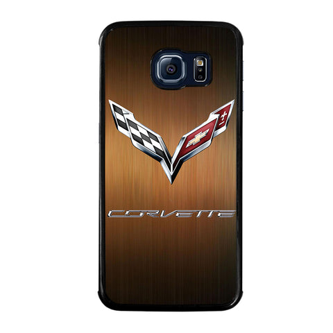 CORVETTE WOODEN LOGO-samsung-galaxy-S6-edge-case