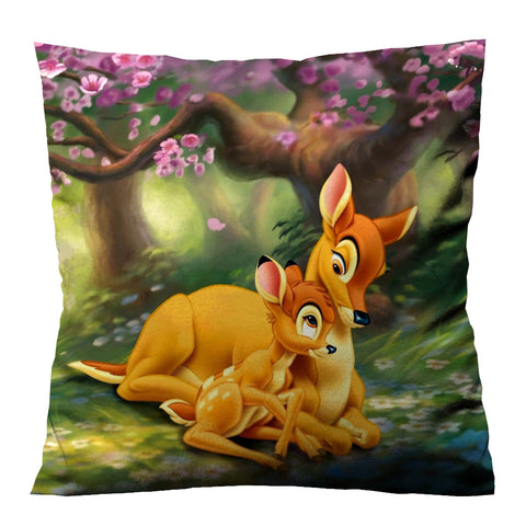 DISNEY BAMBI WITH MOM Cushion Case Cover