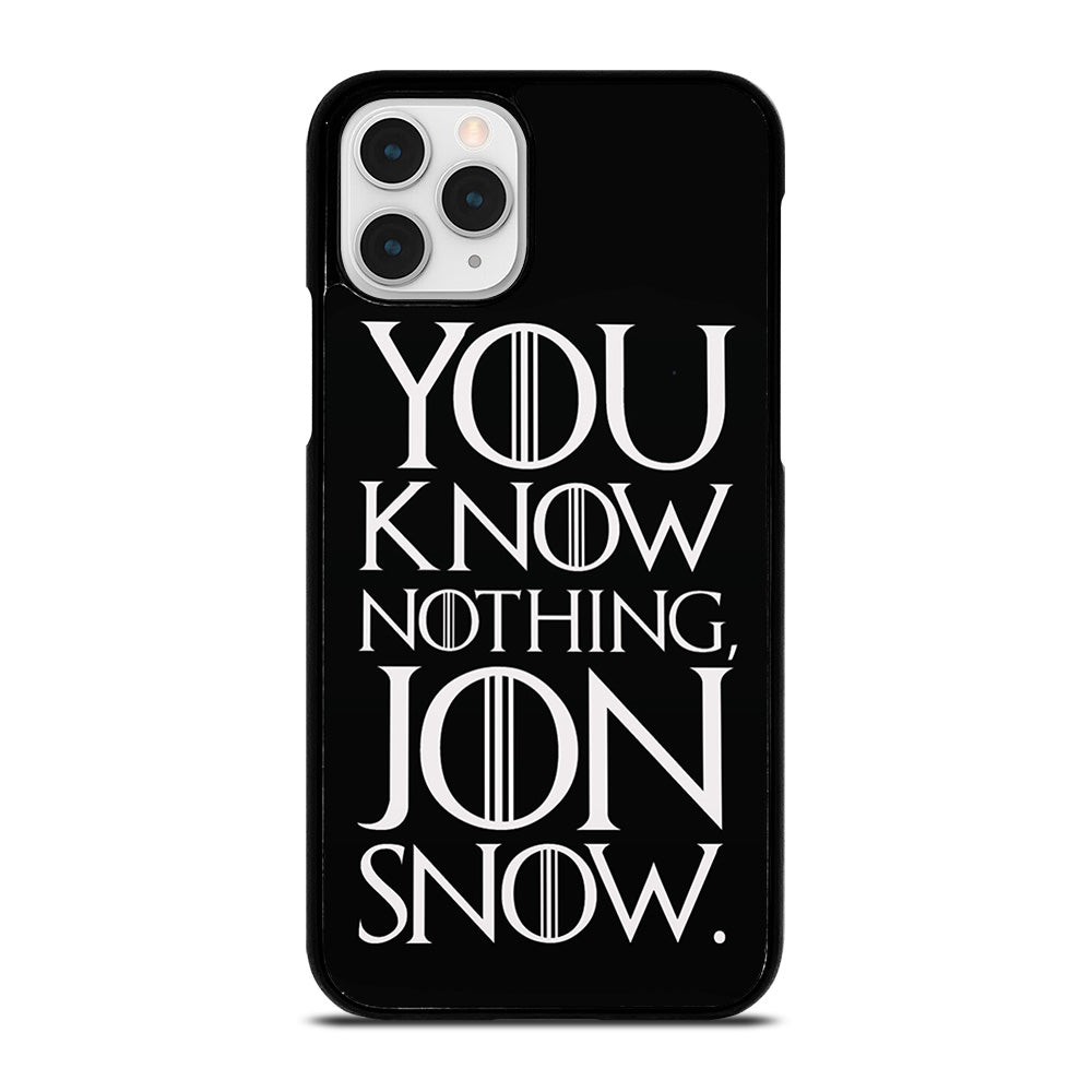 Know Nothing iPhone 11 case