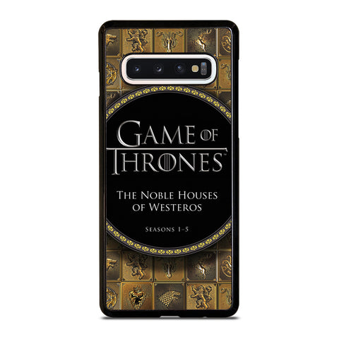 GAME OF THRONES THE NOBLE HOUSES OF WESTEROS Samsung Galaxy S4 S5 S6 S7 S8 S9 S10 5G Plus S10e Edge Plus Note 5 8 9 10 Plus Case - Best Custom Phone Cover Design