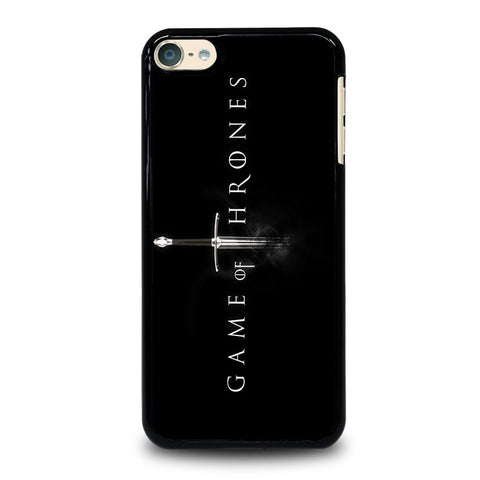 GAME OF THRONES LOGO BLACK iPod Touch 4 5 6 Generation 4th 5th 6th Case - Best Custom iPod Cover Design