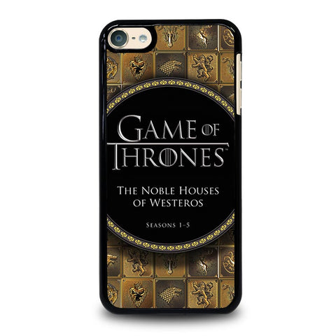 GAME OF THRONES THE NOBLE HOUSES OF WESTEROS iPod Touch 4 5 6 Generation 4th 5th 6th Case - Best Custom iPod Cover Design