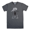 GRIZZLY GRIPTAGE POSTER OG BEAR SKATEBOARD 2-mens-t-shirt-Charcoal