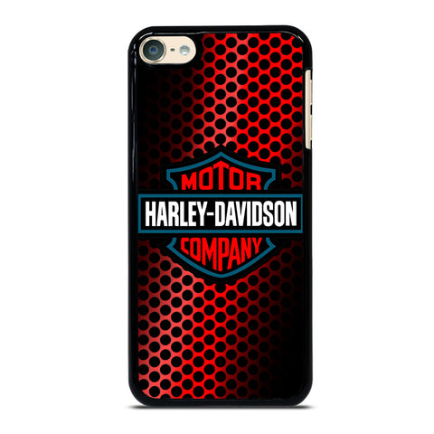 HARLEY DAVIDSON LOGO RED iPod Touch 4 5 6 Generation 4th 5th 6th Case - Best Custom iPod Cover Design