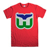 HARTFORD WHALERS-mens-t-shirt-Red