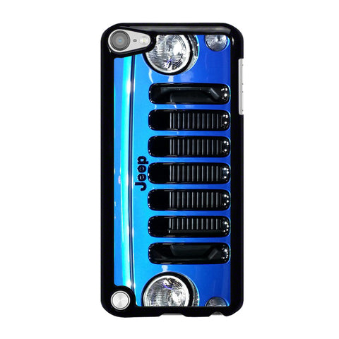 JEEP WRANGLER POLAR FRONT BLUE-ipod-touch-5-case