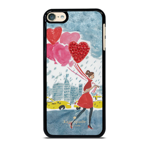 KATE SPADE BALLOON SPARKLE Samsung S8 Plus Black Plastic iPod Touch 4 5 6 Generation 4th 5th 6th Case - Best Custom iPod Cover Design