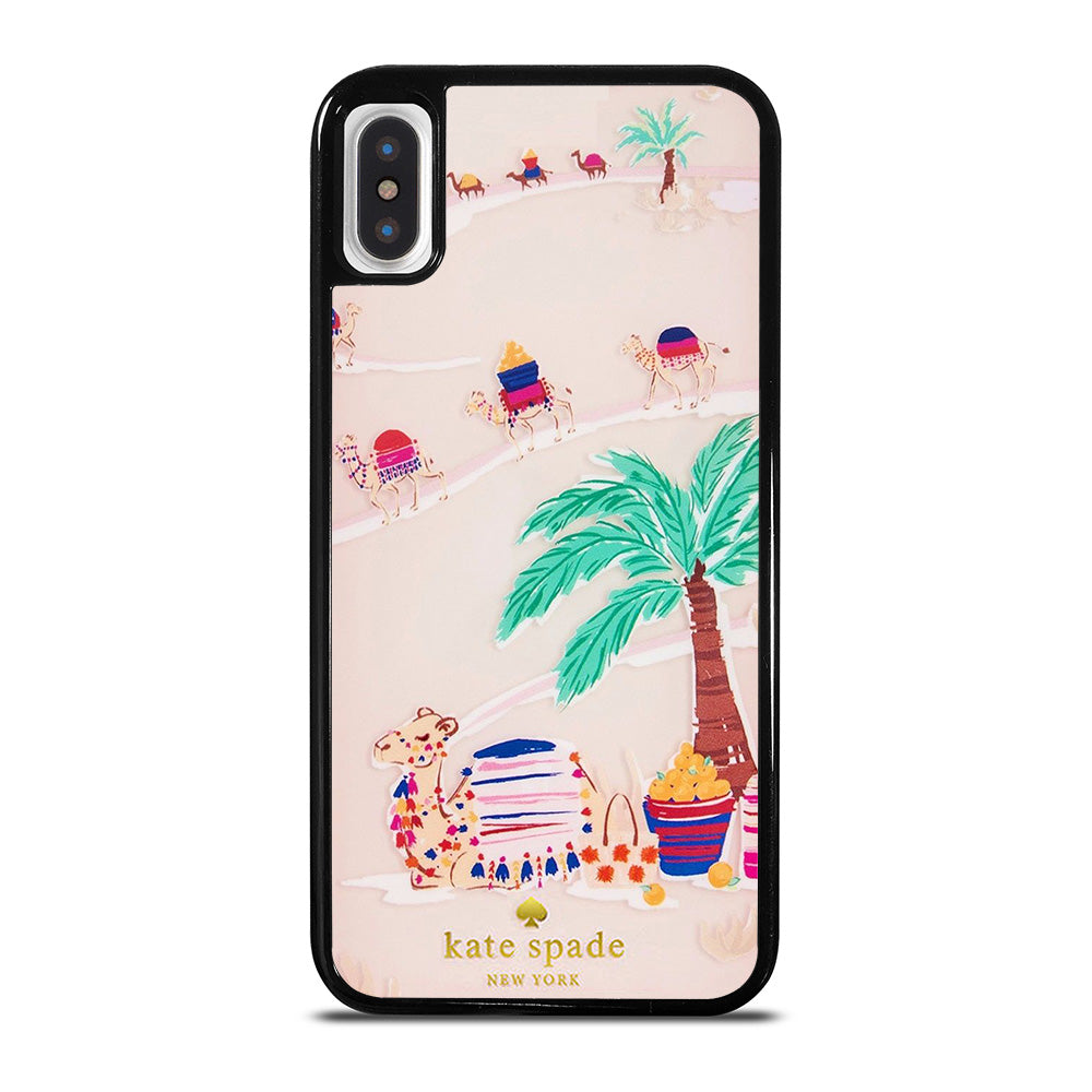 new styles d1d00 cbd95 KATE SPADE DESERT CAMEL iPhone X Case - Casefine