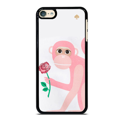 KATE SPADE MONKEY APPLIQUE iPhone X black rubber iPod Touch 4 5 6 Generation 4th 5th 6th Case - Best Custom iPod Cover Design