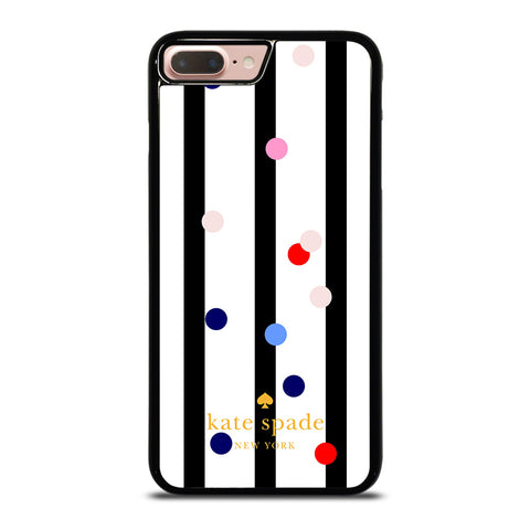 KATE SPADE STRIPE POLKADOTS-iphone-8-plus-case