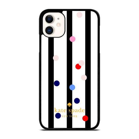 KATE SPADE STRIPE POLKADOTS iPhone 11 Case