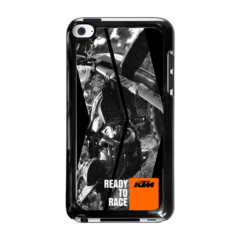 KTM MOTORCYCLE READY TO RACE-ipod-touch-4-case