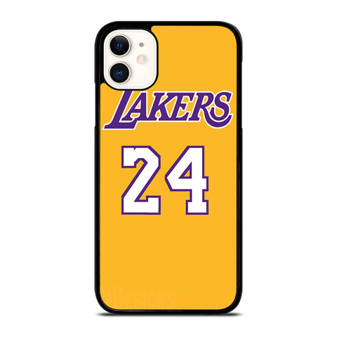 LA LAKERS JERSEY 24 KOBE BRYANT iPhone 11 Case