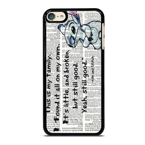 LILO AND STITCH QUOTES Disney iPod Touch 4 5 6 Generation 4th 5th 6th Case - Best Custom iPod Cover Design