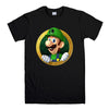 LUIGI NINTENDO SUPER MARIO-mens-t-shirt-Black