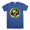 LUIGI NINTENDO SUPER MARIO-mens-t-shirt-Blue