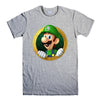 LUIGI NINTENDO SUPER MARIO-mens-t-shirt-Gray