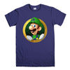 LUIGI NINTENDO SUPER MARIO-mens-t-shirt-Purple