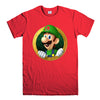 LUIGI NINTENDO SUPER MARIO-mens-t-shirt-Red