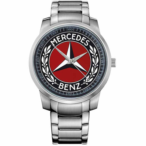 MERCEDES BENZ-LOGO-metal-watch