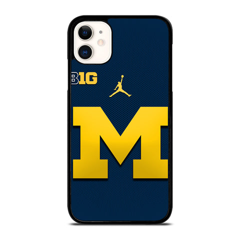 MICHIGAN WOLVERINES BLUE LOGO iPhone 11 Case