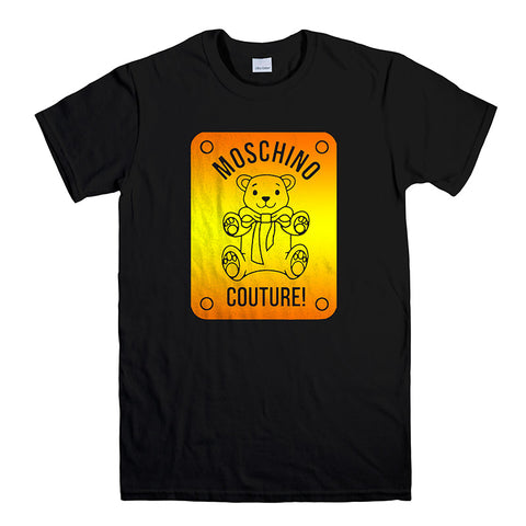 MOSCHINO TEDDY BEAR COUTURE-mens-t-shirt-Black