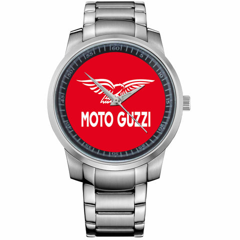MOTO GUZI LOGO-metal-watch