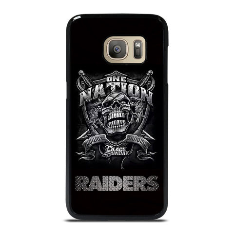 OAKLAND RAIDERS BLACK ONE NATION Samsung Galaxy S7 Case