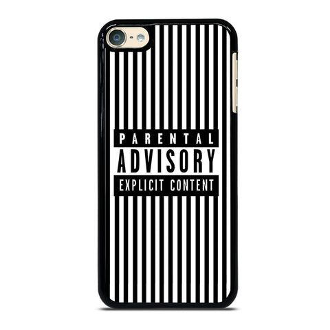 PARENTAL ADVISORY BLACK AND WHITE LINE iPod Touch 4 5 6 Generation 4th 5th 6th Case - Best Custom iPod Cover Design