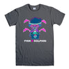 PINK DOLPHIN POSITIVITY-mens-t-shirt-Charcoal