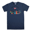 PRIMITIVE SKATEBOARD-mens-t-shirt-Navy