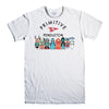 PRIMITIVE SKATEBOARD-mens-t-shirt-White