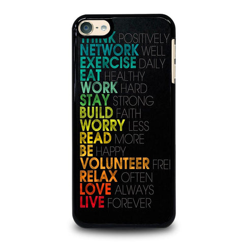 QUOTE INSPIRATIONAL THINK POSITIVELY iPod Touch 4 5 6 Generation 4th 5th 6th Case - Best Custom iPod Cover Design