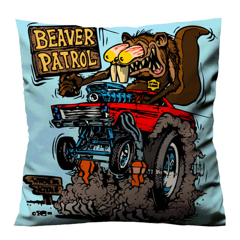 RAT FINK BEAVER PATROL Cushion Case Cover
