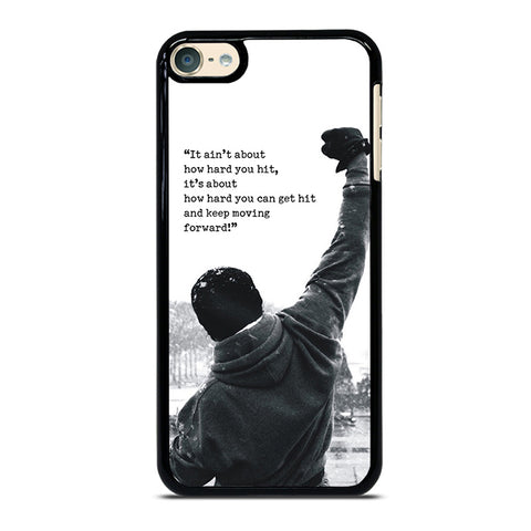 ROCKY MOTIVATIONAL QUOTES iPod Touch 4 5 6 Generation 4th 5th 6th Case - Best Custom iPod Cover Design