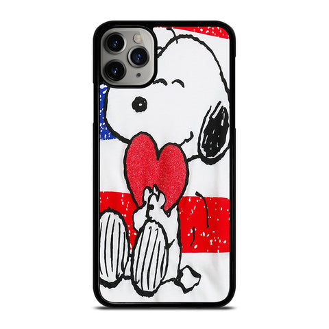 SNOOPY HEARTS AMERICA GIRLS PEANUTS iPhone 6/6S 7 8 Plus X/XS XR 11 Pro Max Case - Best Custom Phone Cover Design