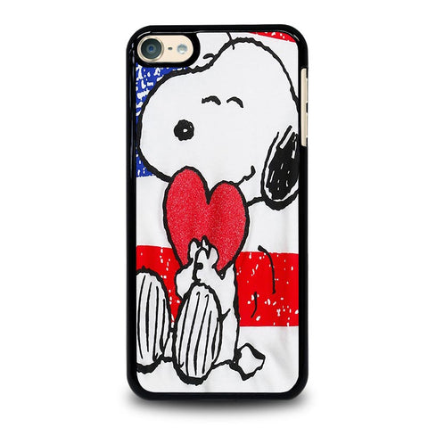 SNOOPY HEARTS AMERICA GIRLS PEANUTS iPod Touch 4 5 6 Generation 4th 5th 6th Case - Best Custom iPod Cover Design