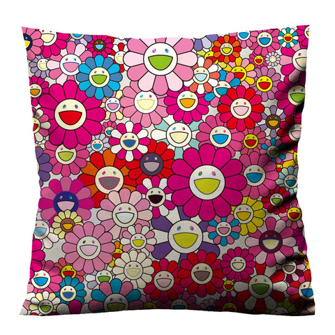 TAKASHI MURAKAMI PINK FLOWERS Cushion Case Cover