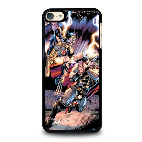 THOR VS WOLVERINE ANIME iPod Touch 4 5 6 Generation 4th 5th 6th Case - Best Custom iPod Cover Design