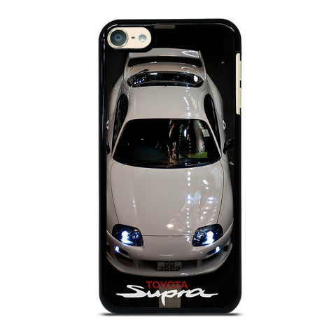 TOYOTA SUPRA WHITE CAR iPod Touch 6 Case