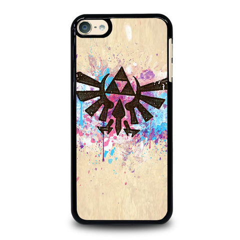 TRIFORCE SPLASH EMBLEM ART iPod Touch 4 5 6 Generation 4th 5th 6th Case - Best Custom iPod Cover Design